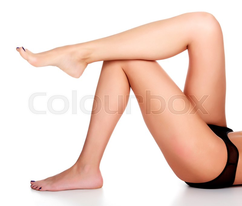Stock image of 'Woman legs on white background'