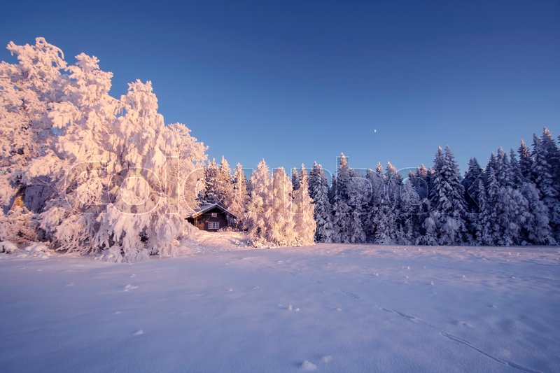 Stock image of 'Beautiful winter landscape in Sweden'