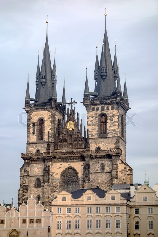 Stock image of 'Teyn gothic cathedral in Prague,Czech Republic '