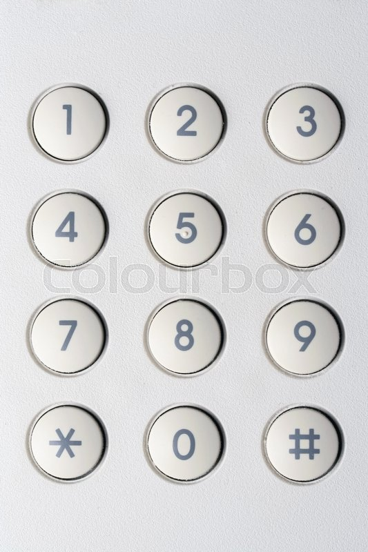 Stock image of 'Background of securityl numeric pad'
