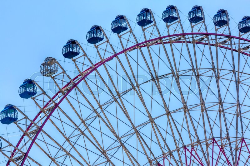 Stock image of 'Big ferris wheel and blue sky'