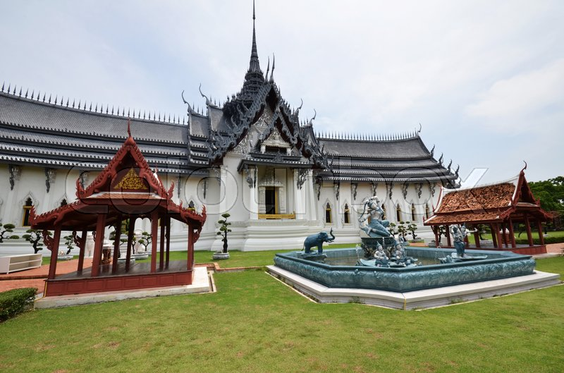 Stock image of 'Sanphet Prasat Palace in Ancient City, Bangkok, Thailand'