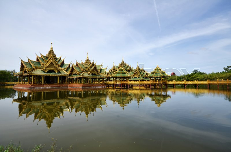 Stock image of 'Pavilion of the Enlightened in Ancient city in Bangkok Thailand'