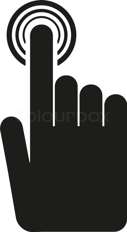 The Hand Click Icon Cursor Symbol Flat Vector Illustration Button
