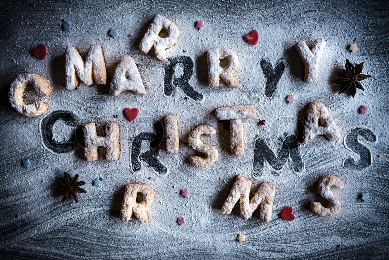 Stock image of 'CMerry Christmas background with cookies '