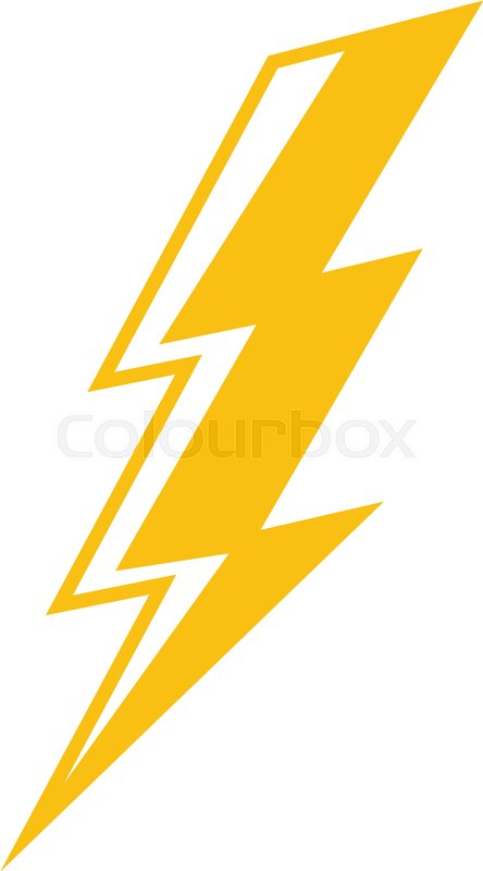 Electric Lightning Bolt Symbol Stock Vector Colourbox