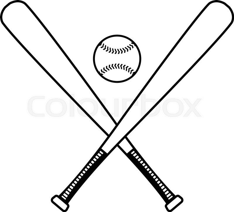 baseball bats vector icon stock vector colourbox rh colourbox com baseball bat vector png baseball bat vector art free