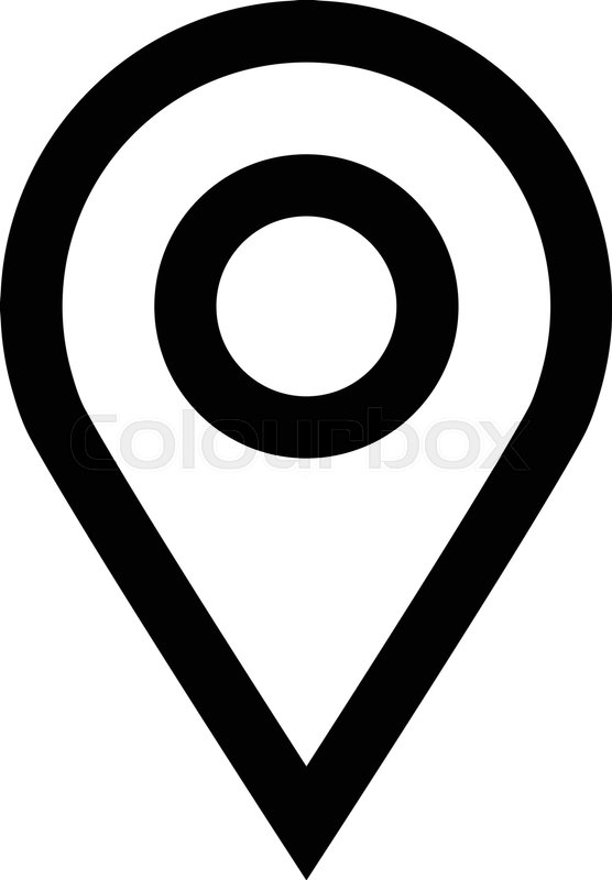 Location Pin Vector Icon Stock Vector Colourbox