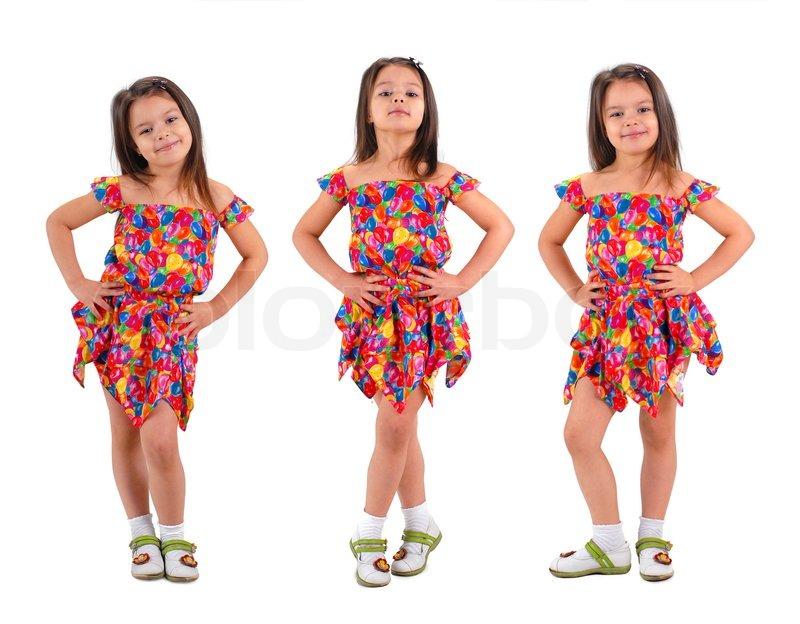 e8695083c02f Tre små søde brune hår baby piger ...