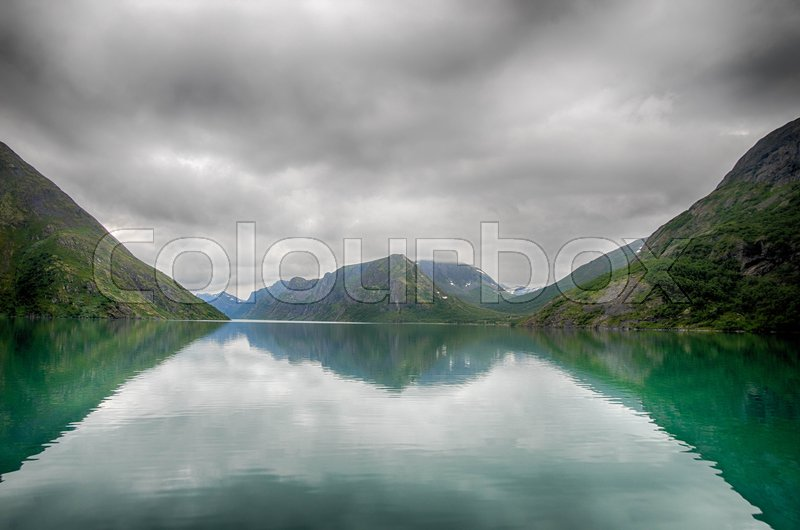 Stock image of 'Norwegian nature landscape at summer tourism trip'