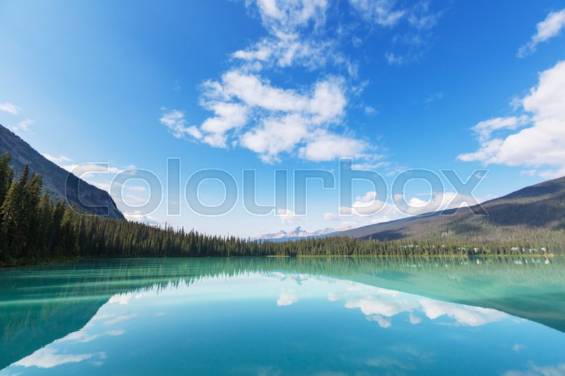 Stock image of 'Serenity Emerald Lake in the Yoho National Park, Canada. Instagram filter'