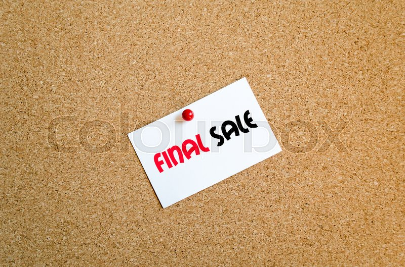 Stock image of 'Sticky note on cork board background and text concept'