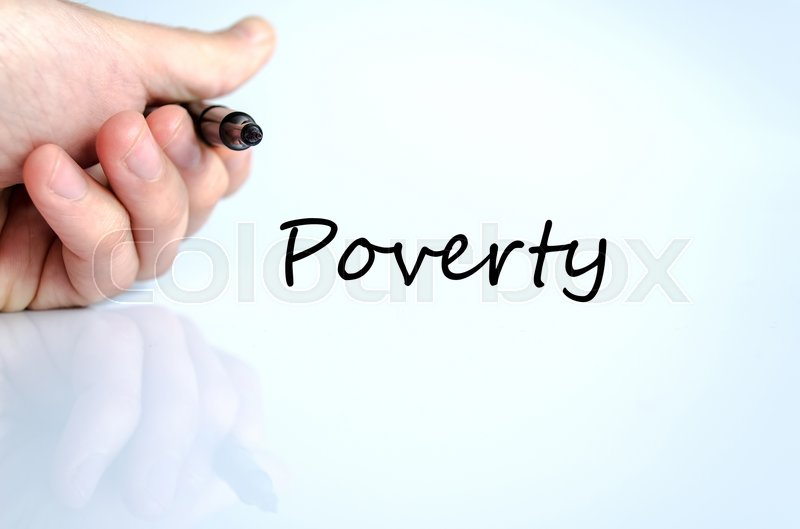 Stock image of 'Poverty text concept isolated over white background'