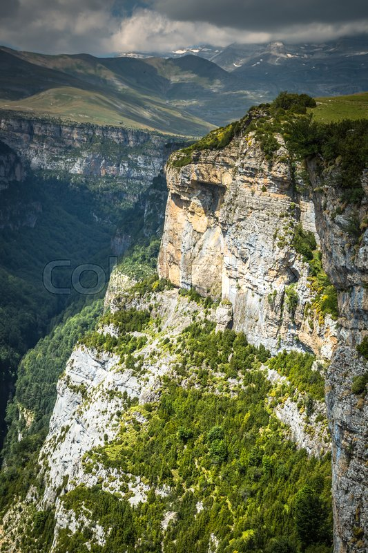 Stock image of 'Pyrenees Mountains landscape - Anisclo Canyon in summer. Huesca,Spain'