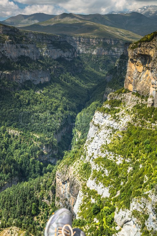 Stock image of 'Canyon de Anisclo in Parque Nacional Ordesa y Monte Perdido, Spain'