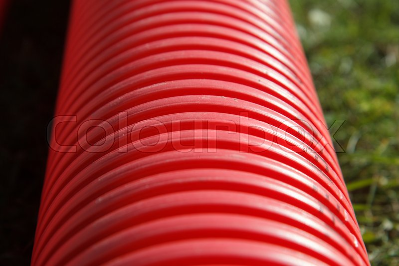 Stock image of 'New plastic pvc pipe for a pipeline'
