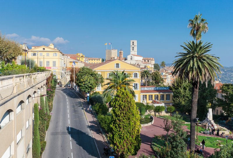 Editorial image of 'GRASSE, FRANCE - OCTOBER 31, 2014: Panoramic view of downtown, Grasse is the world perfumes capital with the famous Fragonard perfumery.'