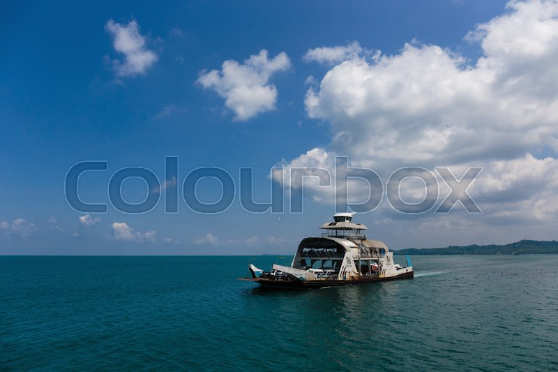 Editorial image of 'TRAT , THAILAND- 4 APRIL , 2015 : Port ferry boat in Koh Chang Island'