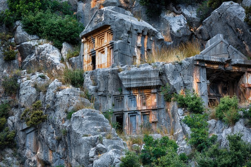 Stock image of 'Ancient burial place of Myra in Turkey'