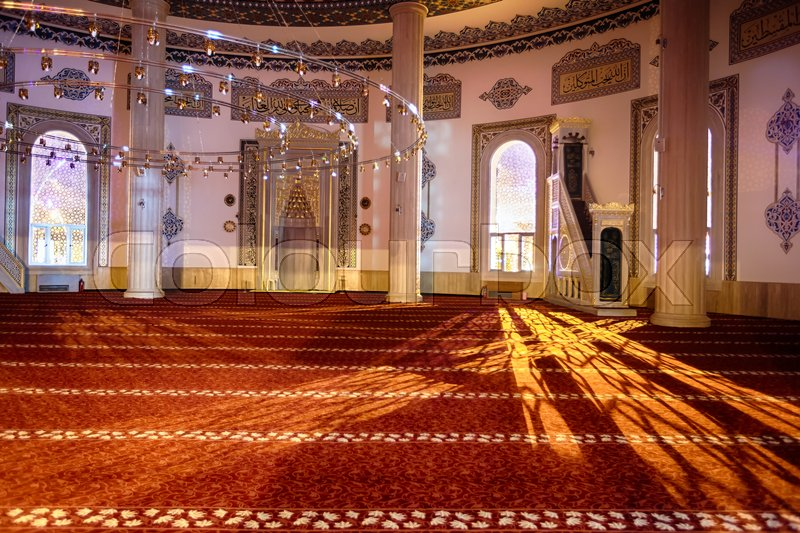 Editorial image of 'Interior of Mosque in Kemer city, Turkey'