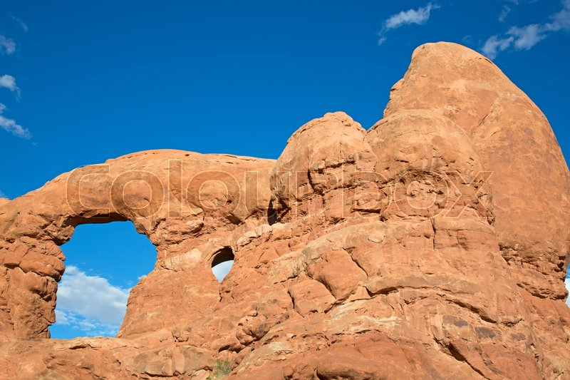 Stock image of 'Famous Turret arch in the Arches National park, Utah, USA'