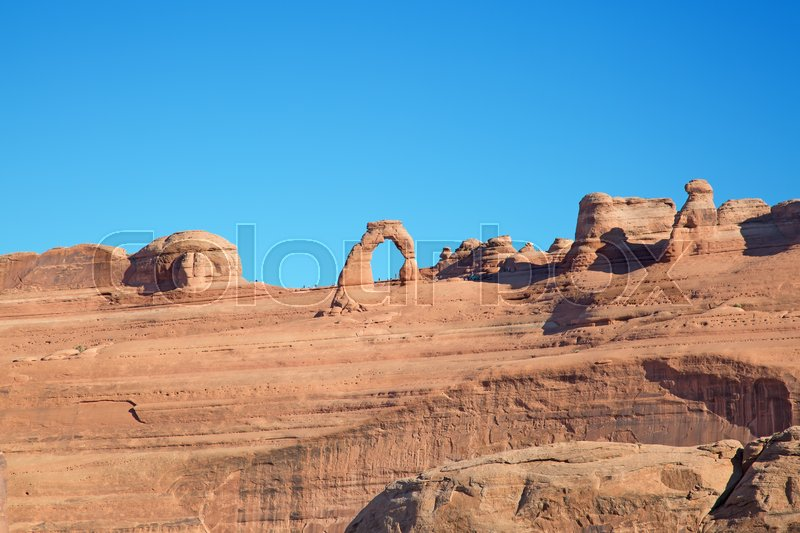 Stock image of 'Famous Delicate arch in the Arches National park, Utah, USA'