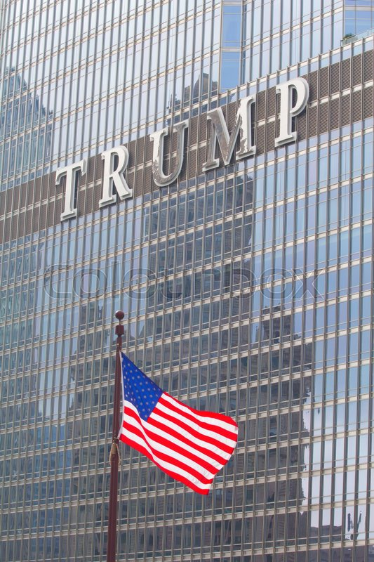 Editorial image of 'Chicago, IL, USA - September 23, 2016: Facade of the Trump Tower in Downtown Chicago'