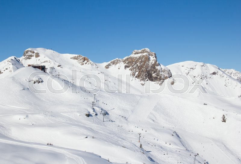 Stock image of 'Winter in the swiss alps, Switzerland'