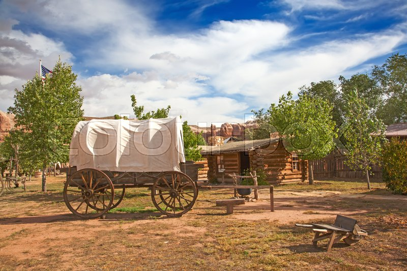 Stock image of 'Historial outpost of the Wild West Pioneers on the border between Arizona and Utah'