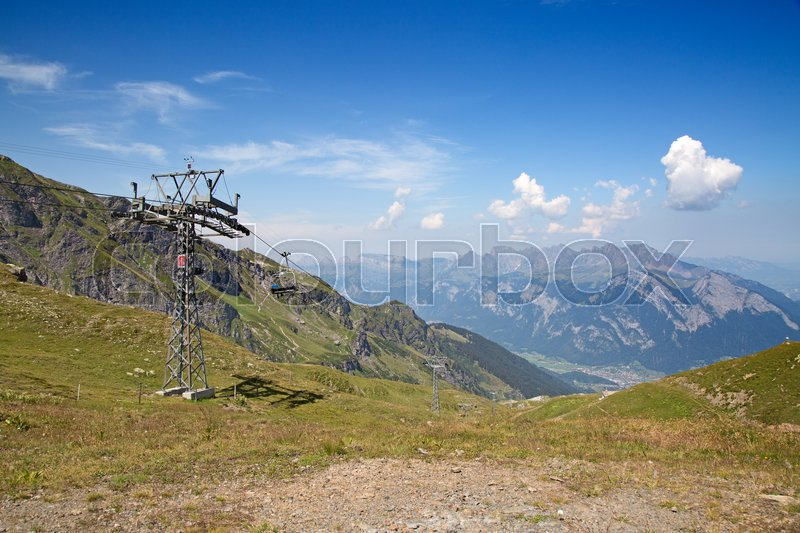 Stock image of 'Hiking in the swiss alps: landscape near peak Pizol'