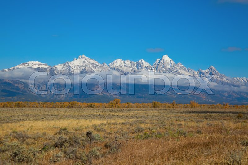 Stock image of 'Grand Teton National Park, Wyoming, USA'