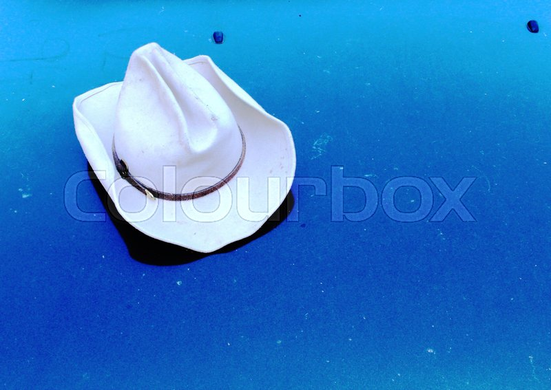 Stock image of 'Cowboy hat in wild western'