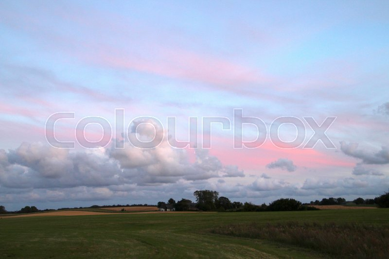 Stock image of 'Typically Danish landscape in summer time'