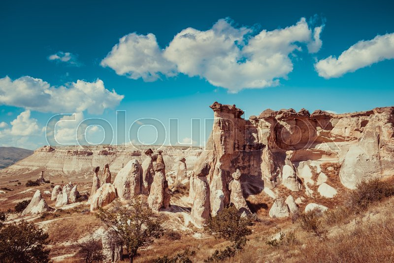 Stock image of 'Rocks formations of Cappadocia in Central Anatolia, Turkey'