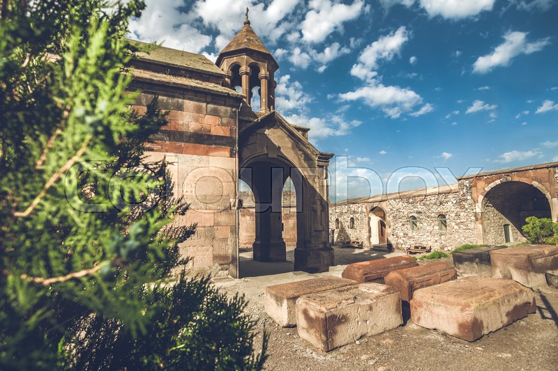 Stock image of 'Khor Virap is ancient Monastery located in Ararat valley in Armenia'