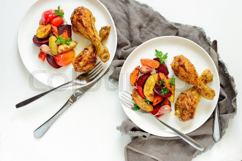 recipe: roasted drumsticks and vegetables [32]
