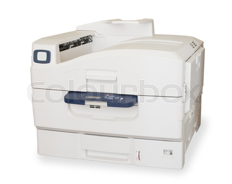 Stock image of 'big color laser printer on white background'