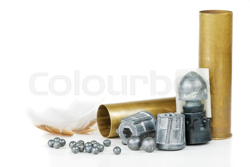 Stock image of 'hunting equipment on white background'