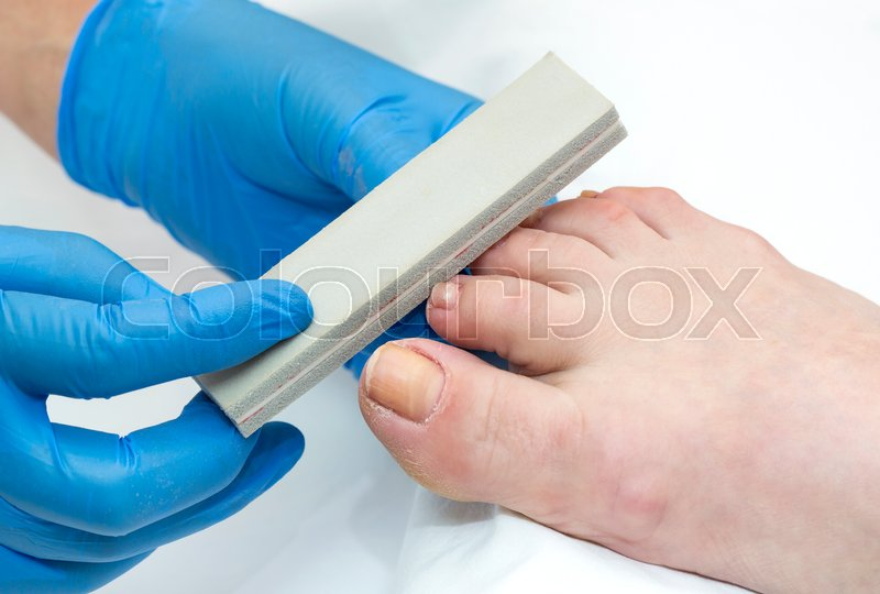 Stock image of 'Process of pedicure at beauty salon'
