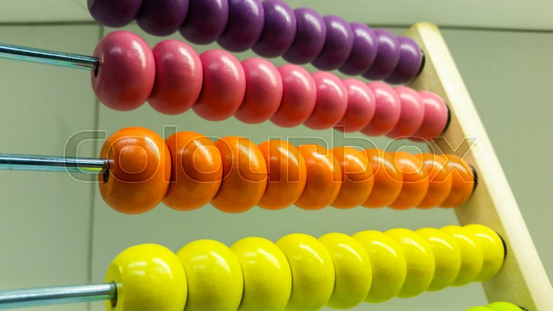 Stock image of 'the abacus is simply the decimal number system'