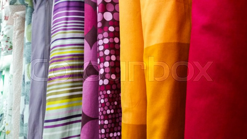 Stock image of 'Who knows if in the future the fabrics are still so important to humans'