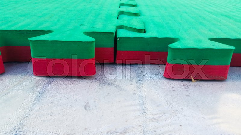 Stock image of 'rubber flooring which usually is used for sporting performances in the street'
