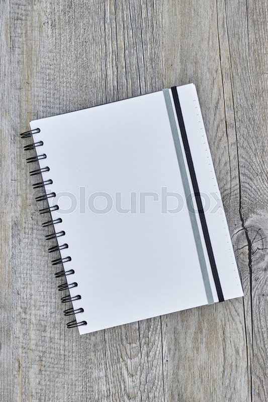 Stock image of 'A close up shot of a notebook writing pad'