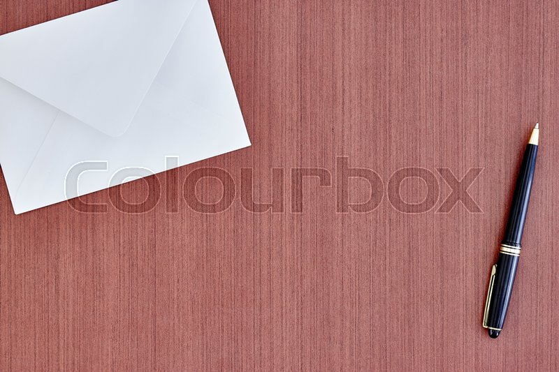 Stock image of 'A studio photo of a black envelope'