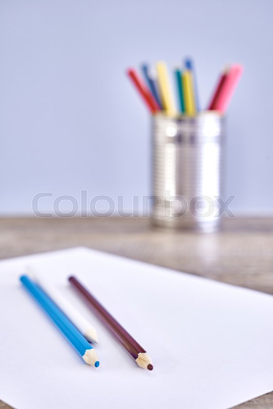 Stock image of 'A studio close up photo of coloring pencils'