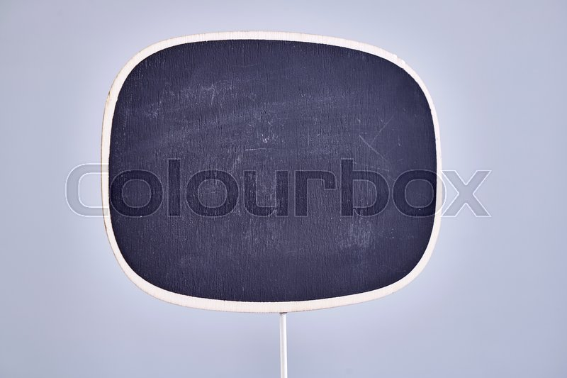 Stock image of 'A studio photo of a craft display sign'