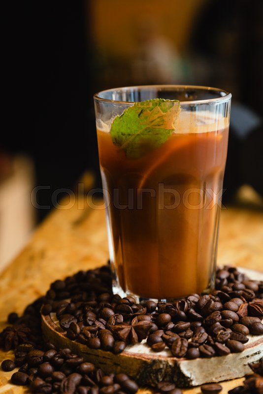 Stock image of 'Iced coffee or caffe latte in takeaway cup including clipping path'