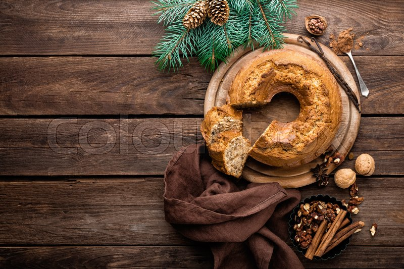 Stock image of 'Christmas pastry, cake'