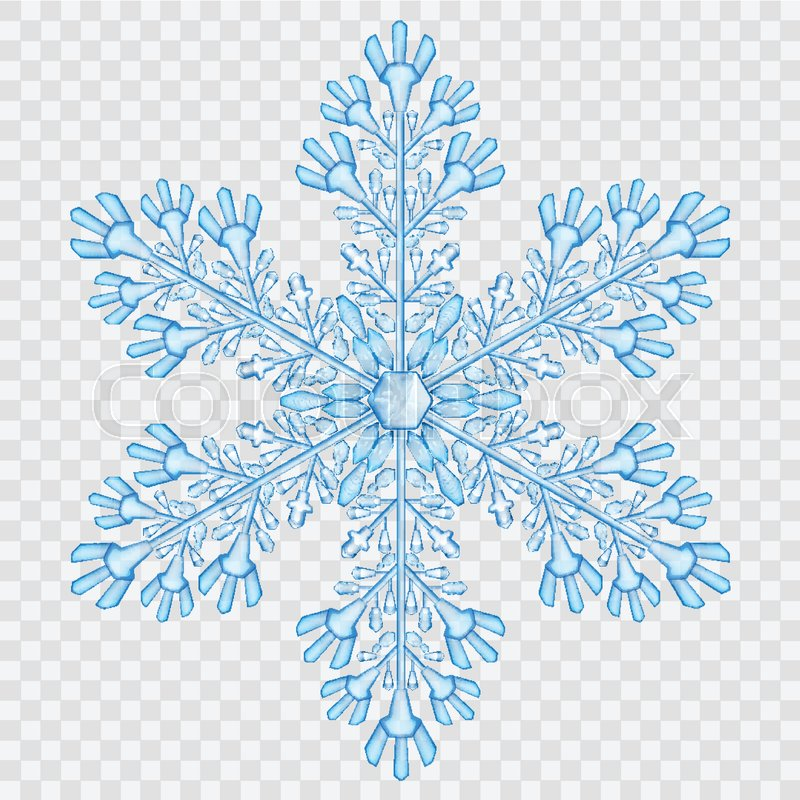 Big translucent crystal snowflake in     | Stock vector