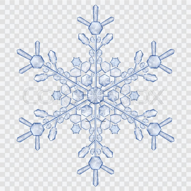 big translucent crystal snowflake in blue colors on transparent background transparency only in snowflake clipart borders snowflake clipart vector